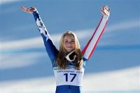 vonn arms podium2 I Hate Lindsey Vonn