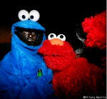 Cookie Monster Blackface & Elmo