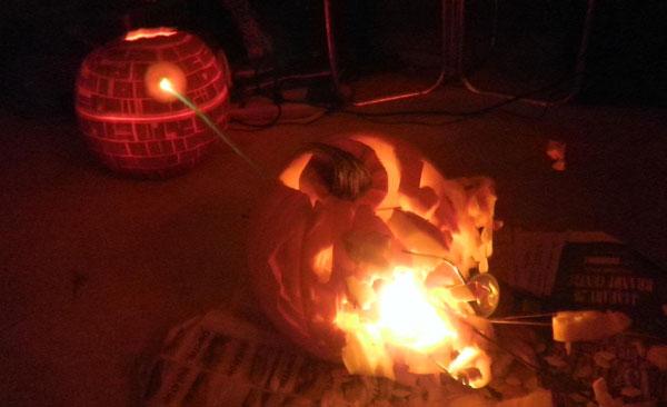 Pumpkin Death Star Alderaan Death Star Pumpkin Blowing up