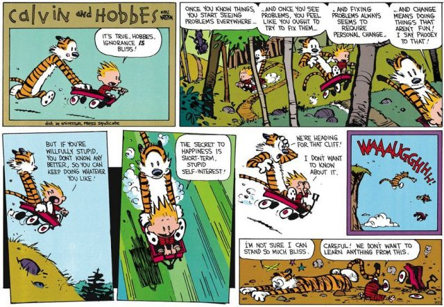 Calvin ignorance